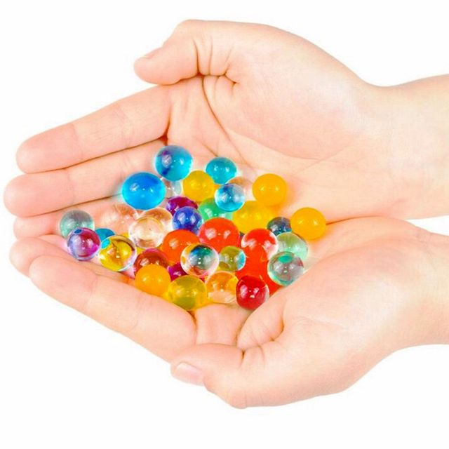 1000pcs/packet 2.5mm-3mm Colored Soft Crystal Water Paintball Nerf Gun  Bullet Grow