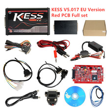 Best Price KESS V2 V2.47 V5.017 EU Red ECM Titanium 4 LED Online Master Kess V5.017 Version ECU OBD2 car/truck Programmer v2 47 online eu red kess v2 5 017 master obd2 manager tuning kit kess v5 017 4 led ktag v7 020 bdm frame k tag 7 020 ecu chip