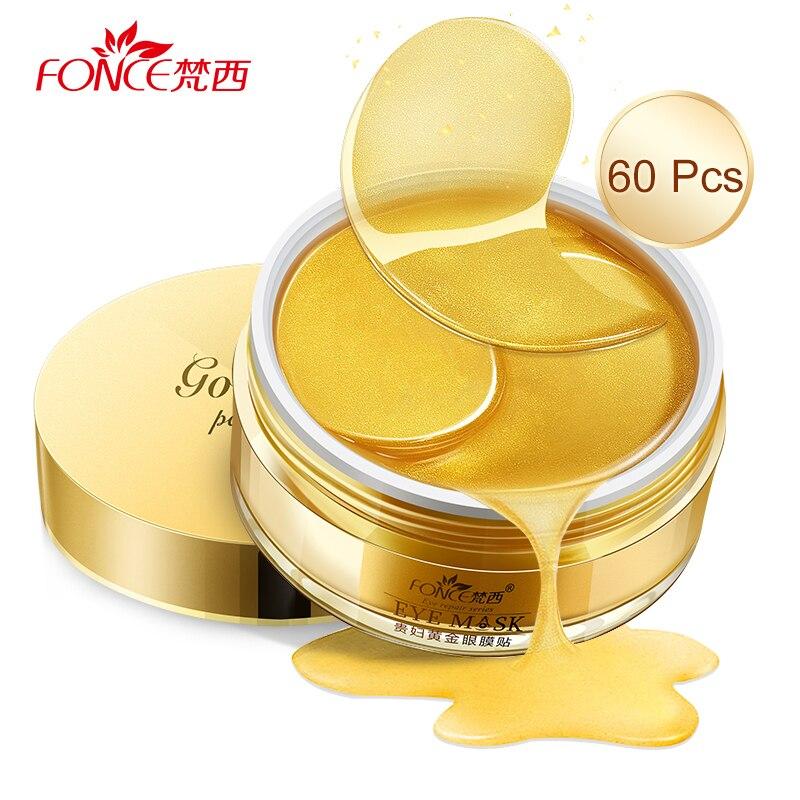 Купить с кэшбэком Korea 24K Gold Crystal Collagen Gel Eye Mask patches Ageless Sleep Mask Remover Wrinkle Anti Age Treatment Dark Circles sheet