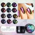 Belen Todas As 12 Cores Camaleão Gel UV Glitter Gel Luminosa 3D colorido Fantasma Manicure Gel UV Esmaltes de Cores Precisa UV CONDUZIU A Lâmpada