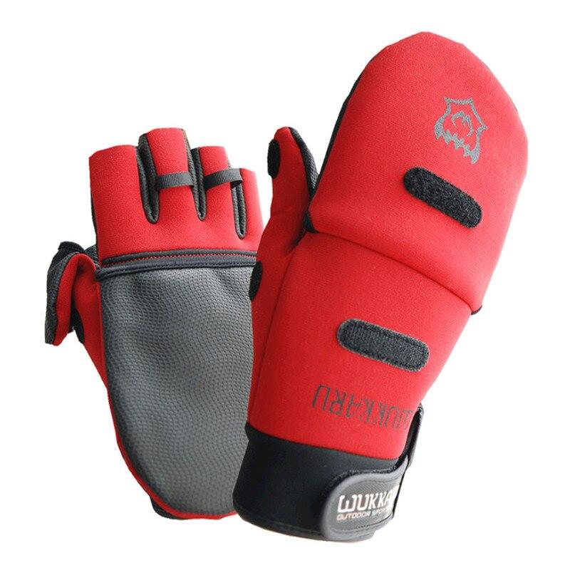 SHUNMIER Wk-06 Männer Frauen full/Half Finger Durable Anti-Slip Anti-Cut Wasserdichte Winter Pu Angeln Handschuhe pesca Guantes