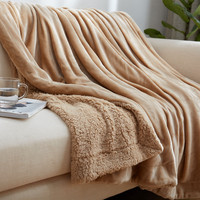 Solid Blanket Plush Blanket Nordic Style Bedspread For Living Room Double Blanket Black Grey 150 200cm