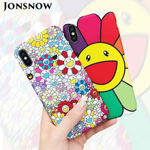 JONSNOW Smiley Face Case for iPhone 6 6S 7 8 Plus Soft Silicone Phone Frosted Back Protective Cover X XS MAX XR