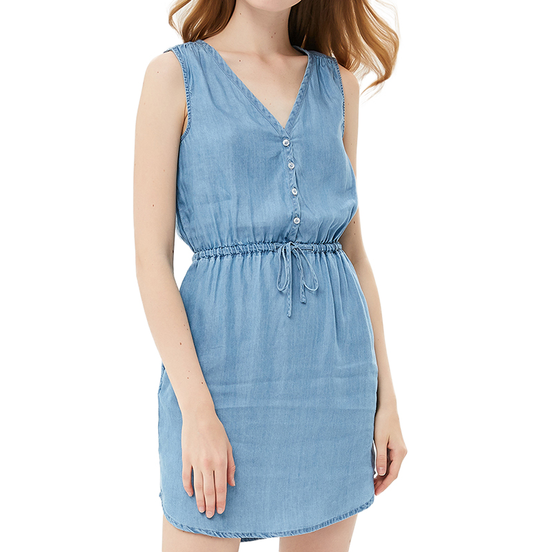 Dresses MODIS M181D00312 women dress cotton  clothes apparel casual for female TmallFS dresses dress befree for female long sleeve women clothes apparel casual spring 1811343565 15 tmallfs