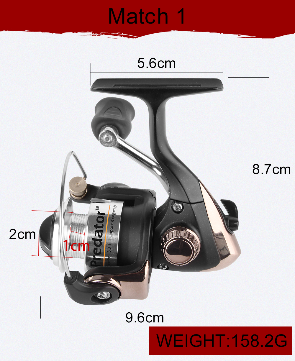 2018 New Winter Fishing 61cm 63.5cm 66cm, UL L ML, Spinning Fishing Reel Fly Reel And Ice Fishing Rod Combo Portable Mini Set  (7)