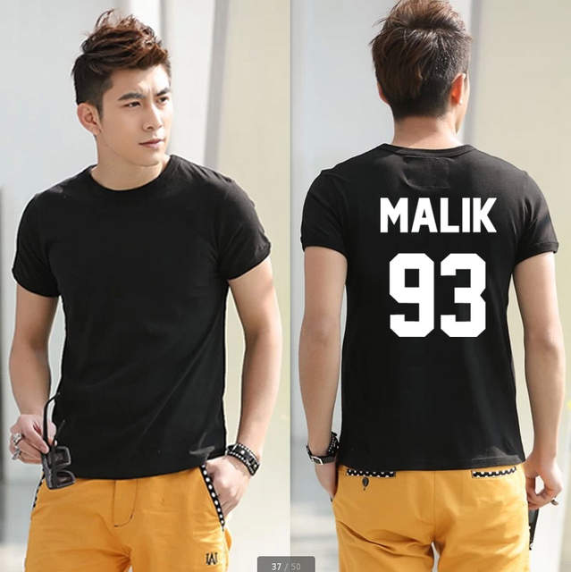 52e7440de27c1a placeholder New Men Women T shirt Zayn Malik 93 Back Letters Cotton Casual  Funny Shirt For Lady