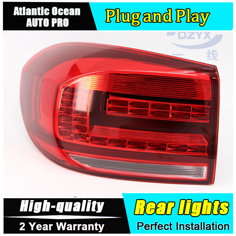 Car Styling for VW tiguan Taillights 2013 2014 2015 for VW tiguan LED Tail Light Rear