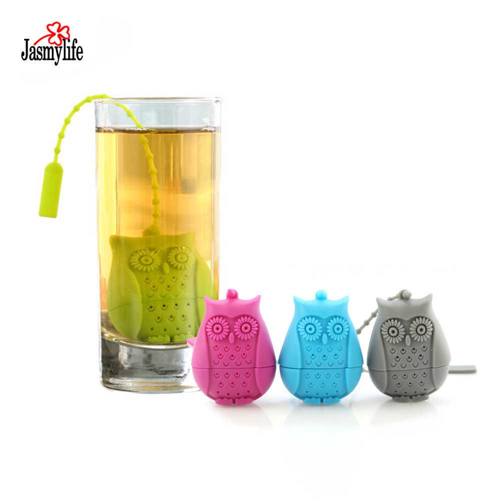 Animal lindo colador de té divertido tetera reutilizable colador con bandeja de gota Bola de té Filtro de especias de hierbas herramientas de té de alta calidad