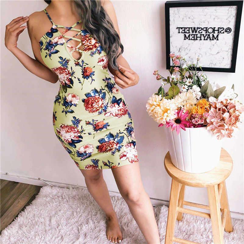2019 夏ドレス販売自由奔放に生きるボヘミアン Mujer パーティードレースツイードカジュアルサンドレス無限大かわいいスパゲッティストラップボディコンドレス