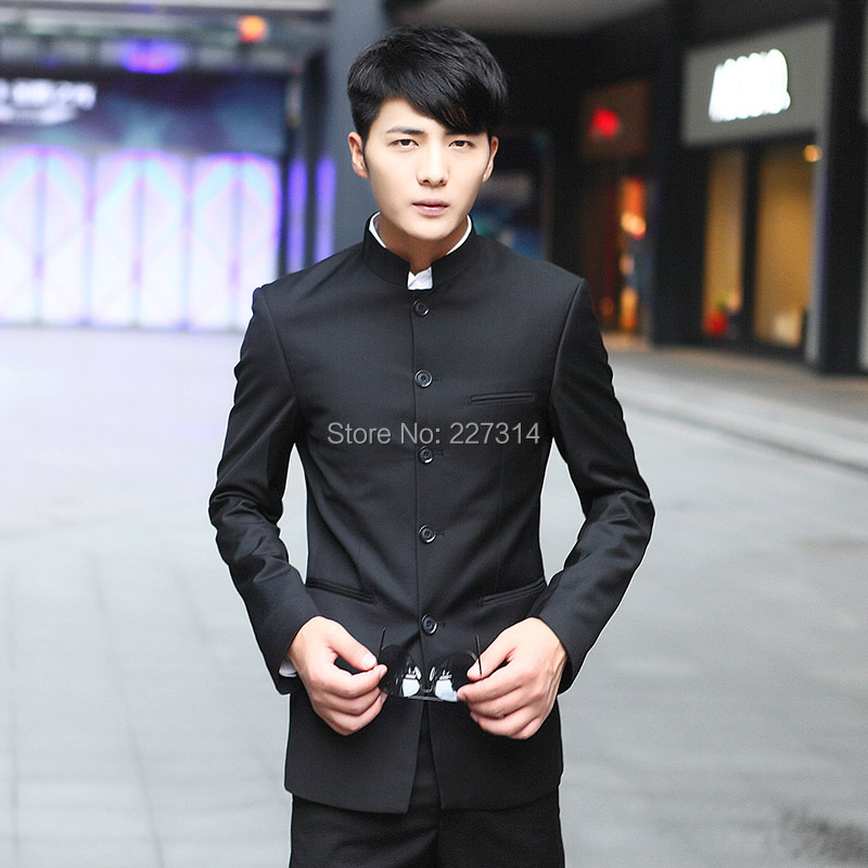 The unique classic chinese tunic suit business casual slim Men\'s ...