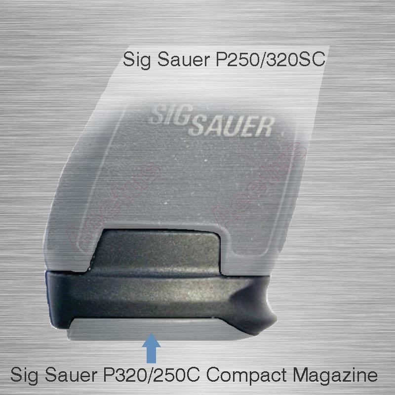 US $8 79 12% OFF|Bran New Adapter Sleeve Use Sig Sauer P320/250C Compact  Magazine in P250/320SC Sub 9mm/40 Magazine Sleeve Adapter-in Hunting Gun