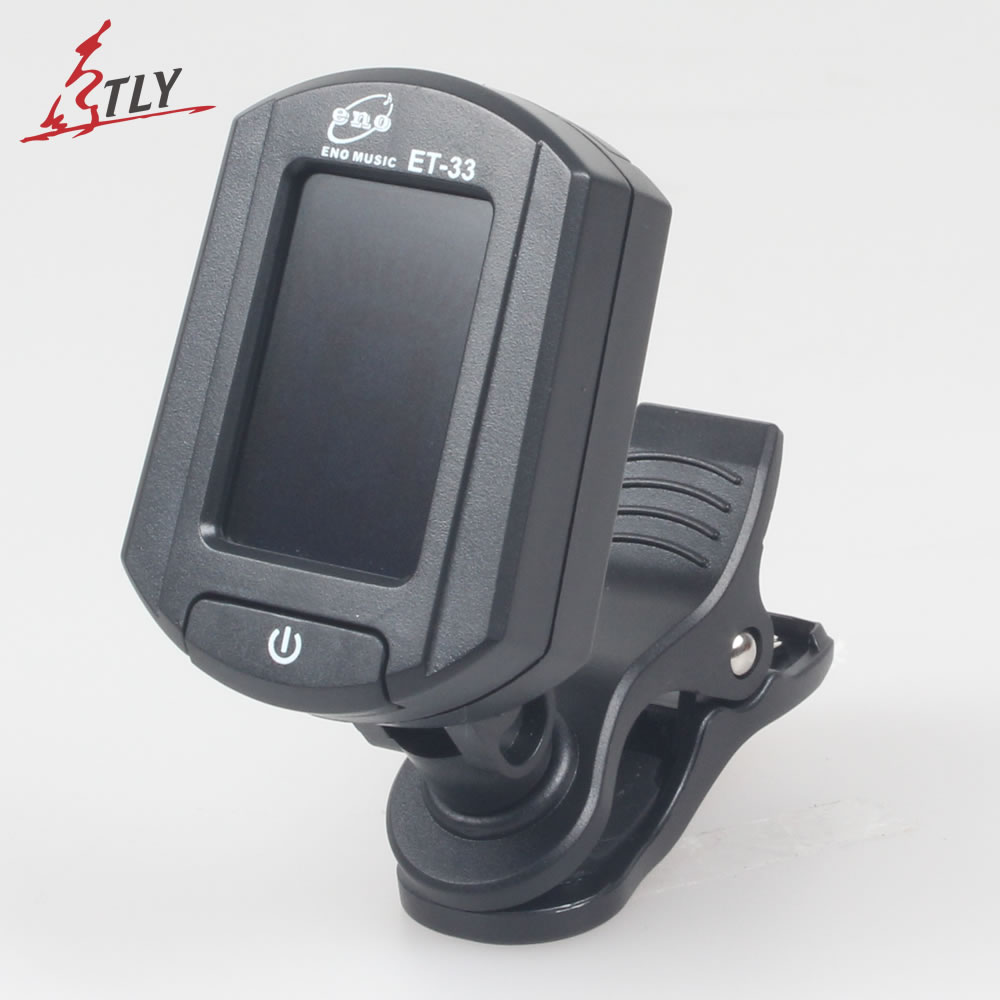 ENO ET-33 Top Quality Backlit LCD Guitar Tuner Mini Auto Chromatic Bass Violin Ukulele Tuner Super Anti-interference