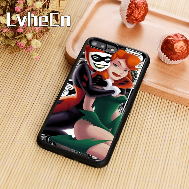 best website 4537b 24960 US $3.18 20% OFF|LvheCn Harley Quinn And Poison Ivy Phone Case Cover For  iPhone 5s SE 6 6s 7 8 plus 10 X Samsung Galaxy S5 S6 S7 edge S8 S9 plus-in  ...