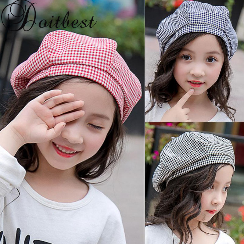 7b5d21c7 2-8 Years Old Kid Girls Beret Hat Autumn Fashion Solid Wool Berets for  Little Girls Candy Color French Artist ...