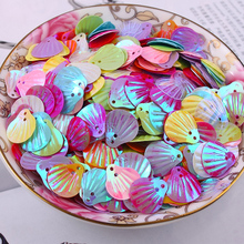 1000pcs/lot  13mm Shell sequins 2holes Mixed colors Jewelry Accessories cloth crafts confetti clothing