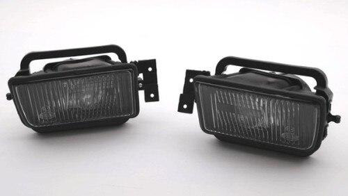 Livraison gratuite! 2 pièces lentille de fumée rugueuse antibrouillard avant (Type réflecteur) pour BMW série 5 E34 1988-1995