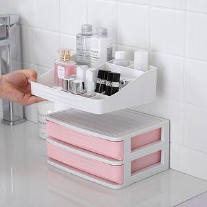 Image 2 - Многослойный пластиковый косметический ящик, органайзер для макияжа, контейнер для хранения, шкатулка для ногтей, настольный чехол для хранения