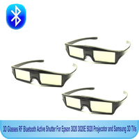 Free Shipping 3ps Lots RF Bluetooth Active Shutter 3D Glasses For Epson 3020 3020E 5020 Projecotor