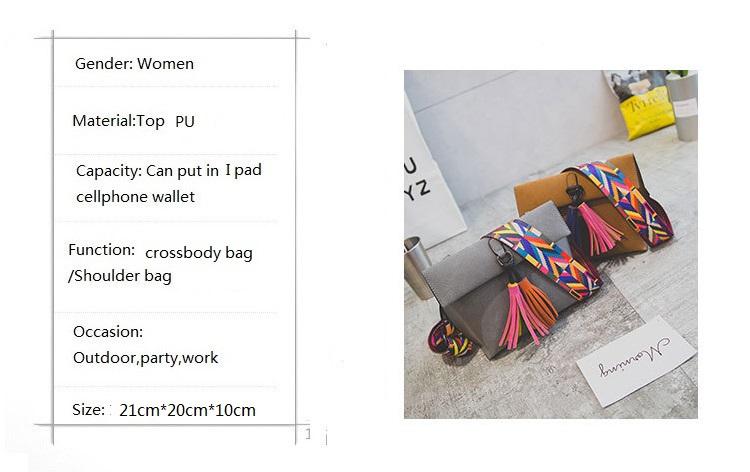 c2aa3c3246e0 Miyahouse Women Scrub Leather Design Crossbody Bag Girls With Tassel  Colorful Strap Shoulder Bag Female Small Flap Handbag. 11  HTB194cfNFXXXXcbXXXXq6xXFXXXp