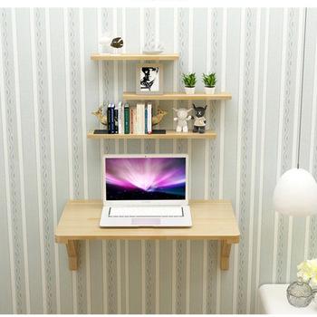 Biurko komputerowe biuro handlowe meble do domu z litego drewna składany stół ściany biurko biurko stół narożny 80 100 120*50 cm 2018 tanie i dobre opinie Meble szkolne Meble sklepowe home office Drewniane Sosna 80*50cm Ecoz China solid Laptop biurko