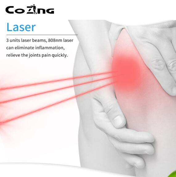 Infrared light massage cold laser therapy massager machine physiotherapy and rehabilitation knee pain relieve equipment cold laser used to relieve pain and anti inflammation rehabilitation laser