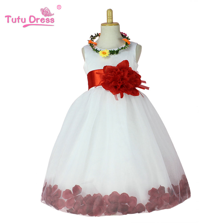 2019 New Summer   Flower     Girl     Dresses   Wedding White Pageant Tutu   Dress     Flower   Little Baby   Girl   Birthday   Dress   with Big Bow