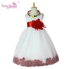 Vente chaude Fleur Fille Robes Pour Mariages Élégante Robe 2-12 Âge Designer Fleur Fille Robes Pour Enfants