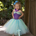 Ariel Inspired Princess Girls Dress Little Mermaid Inspired Birthday Party Dress for Kids Girl Purple Girls Ball Gown