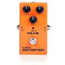 NUX DS-3 Британский искажения гитары педаль эффектов crunch искажения коричневый звук с высоким коэффициентом усиления трубки dist stompbox беспла