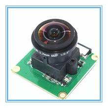 Módulo de câmera raspberry pi ov5647 5mp 175 graus grande angular fisheye lente raspberry pi 3/2 modelo b módulo de câmera
