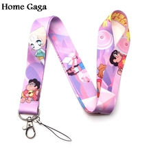 Homegaga Steven Universe keychain id lanyard webbing ribbon neck strap fabric para badge phone holder necklace accessories D1569