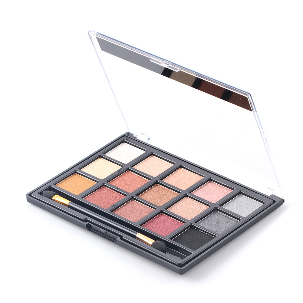 MISS ROSE New 15 Color Eyeshadow Pearl Matte Eye Shadow Professional Pearly Makeup Multicolor Eye Shadow Makeup Set NL