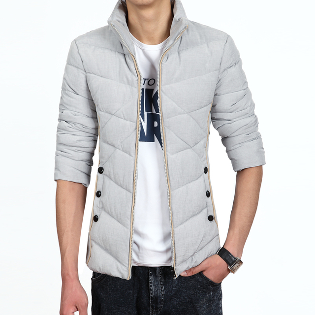 Men's Down Jacket Parka Winter Long Sleeve Thicken Warm Men Down Coat Cotton soft casual overcoat fashion slim Mens Clothes