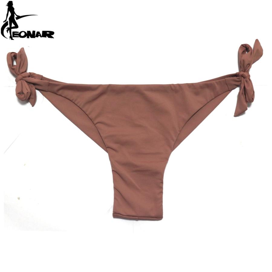EONAR Bikini 2019 Solid Women Swimsuit  Brazilian Cut Bottom Bikini Set Push Up Swimwear Femme Bathing Suits Sport Beach Wear 5