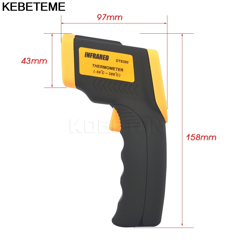 Image 4 - 1PC Hot Handheld infrared Thermometer Temperature Gun Digital  Laser LCD Non contact Infrared Thermometer 50 to 380 Cnon-contact  infraredhandheld infrared thermometerinfrared thermometer -