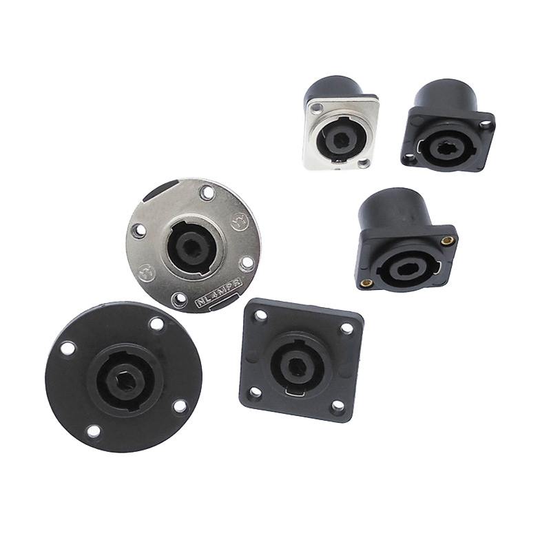 Speakon Connectors Socket Plug Nl4fc Type 4 Pole Speaker Connector