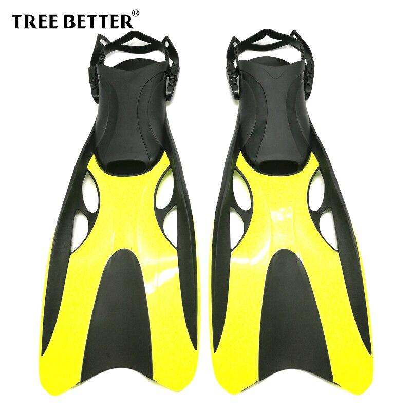Arbre mieux ouvert talon palmes de natation adultes plongée en apnée professionnel palmes de plongée longues palmes Submersible chaussure jaune rose 37 47