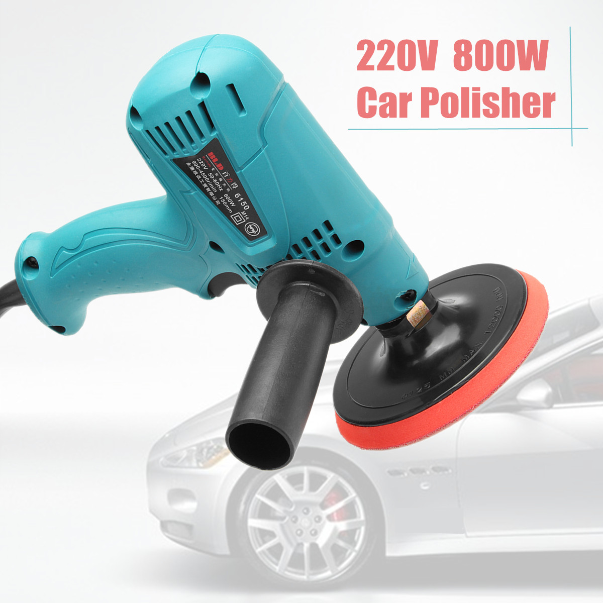 220V 800W Car Polisher 3500r/min Speed Adjustable Electric Car Boat Polishing Waxing Sander Buffer цена