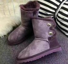 2017HotWomen's bootsChina classic waterproof leather boots genuine sheepskin snow boots winter warm shoes boots for women