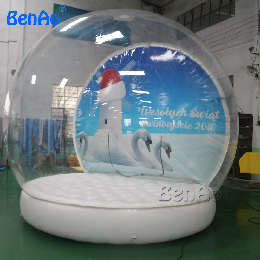 X371  3.5m diameter inflatable snow globes/ Giant Snow Globe Christmas Outdoor Decoration  Advertisement, 3m diameter empty inflatable snow ball for advertisement christmas decorations giant inflatable snow globe