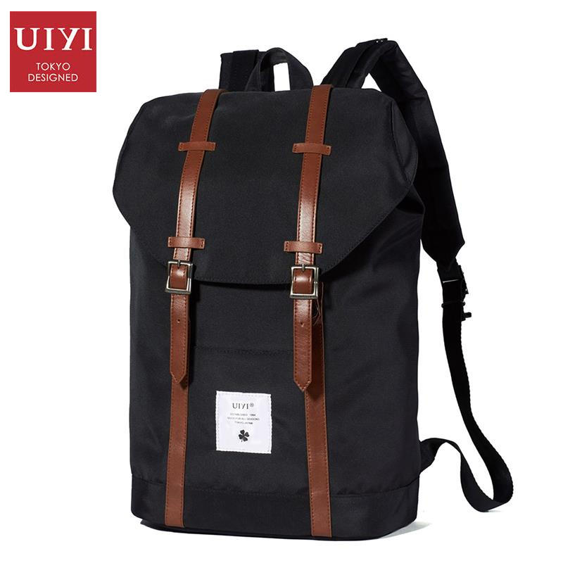 uiyi backpack men polyester microfiber pu leather patchwork backpacks for teenagers school rucksack school bags travel 160014 UIYI Backpack Men PU Leather Polyester Laptop Backpacks Rucksack Bag Flip Covers Shoulder School Bags Bolsas Mochila 160213