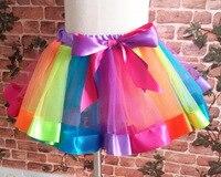 New Baby Girls Rainbow Tutu Princess Party Tutu Skirt Dance Skirts Pettiskirt Tutus