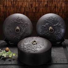 Black purple black mud tank tea Pu'er Tea Mug cake three large portable tank sealed storage time tea time