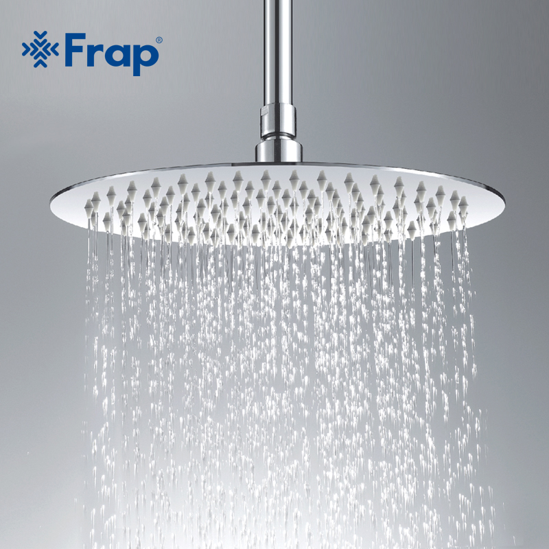 Frap High quality Large Round thin 304 Stainless Steel Shower head Rainfall Shower Faucet Diameter 300mm
