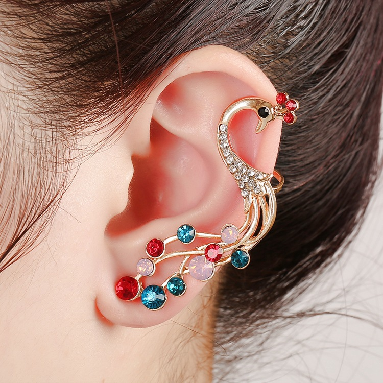 rhinestone must gold stud zoom girl leaf show ear single earring fashions earrings cuff wrap okajewelry mapel have