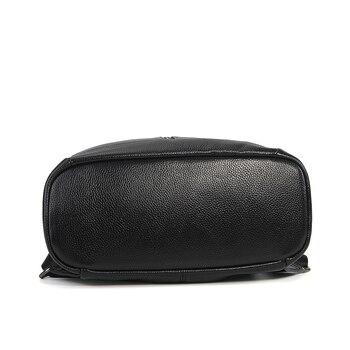 Black Backpack Leather | Nesitu Highend Coffee Red Grey Black Genuine Leather Women's Backpack Female Girl Backpacks Lady Travel Bag Shoulder Bags #M007
