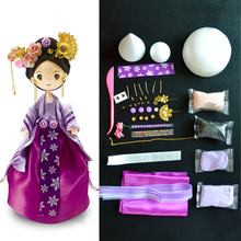 DOLLRYGA Slime Doll Set DIY Colorful Clay Chinese Toy Style With Dress And Headwear Christmas Presents For Girls Handwork  Gifts