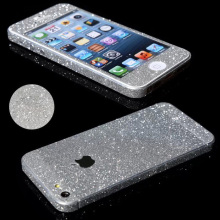 Fashion Beauty Bling Shining Full Body Decals Protective Skin Sticker Case For iPhone SE 5 5s Anti Scrath Dirty