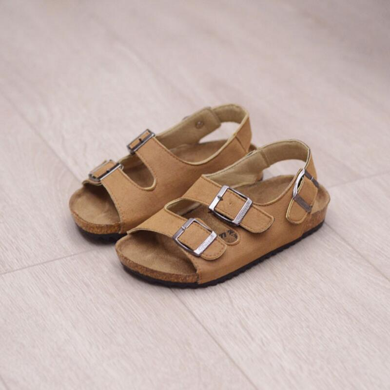 Kids girl sandals new small boys sandals cork sandals for kids girls baby 2017 children double cork flip flops tide beach shoes