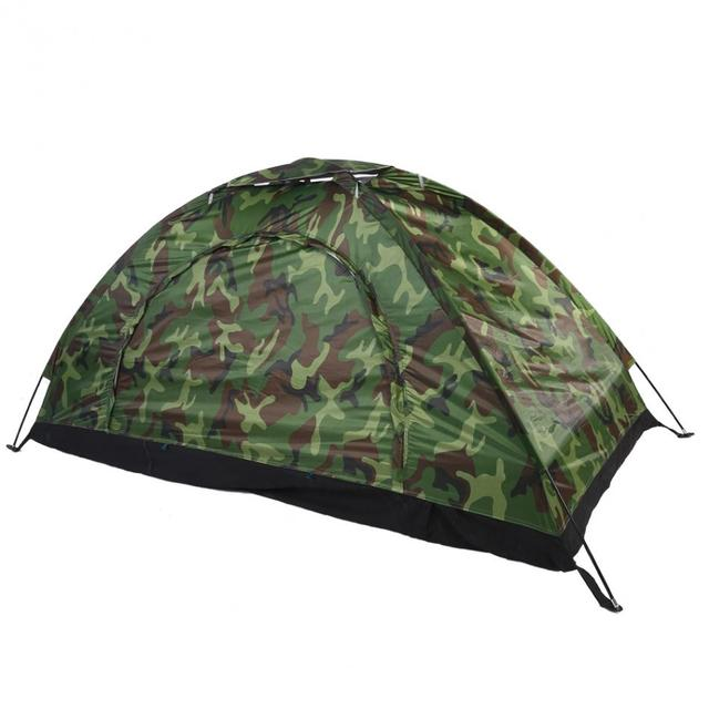 08d45f9169 1-4 Person Outdoor Beach Tent Camouflage Camping Tent Single Layer  Lightweight Waterproof polyester fabric